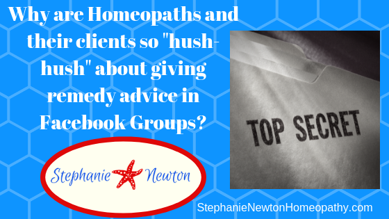 Why are homeopaths and homeopathy clients so secretive about remedies for chronic conditions in Facebook Groups?