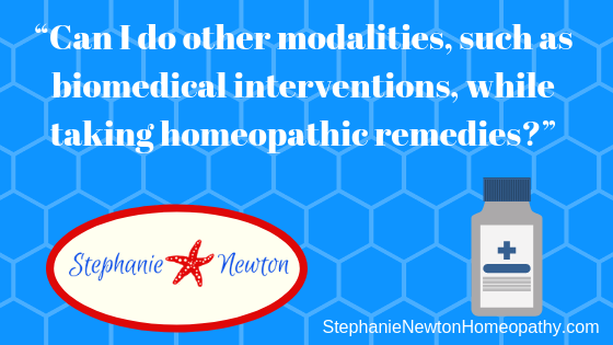 Can homeopathy be done alongside other healing modalities?